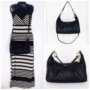 Coach Ashley Black Leather Bag & Wallet Set